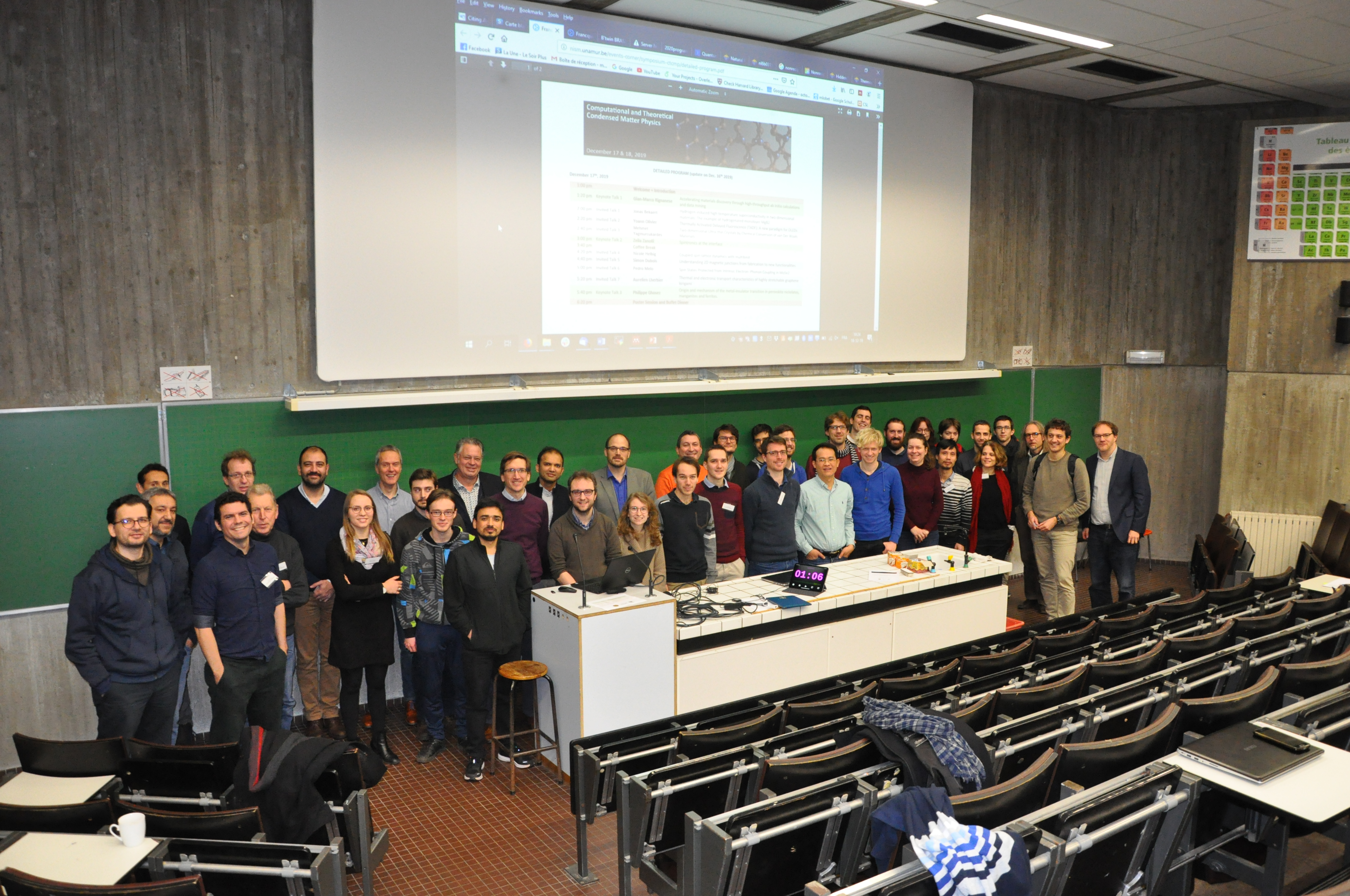 Participants to the Symposium: Computational and Theoretical Condensed Matter Physics